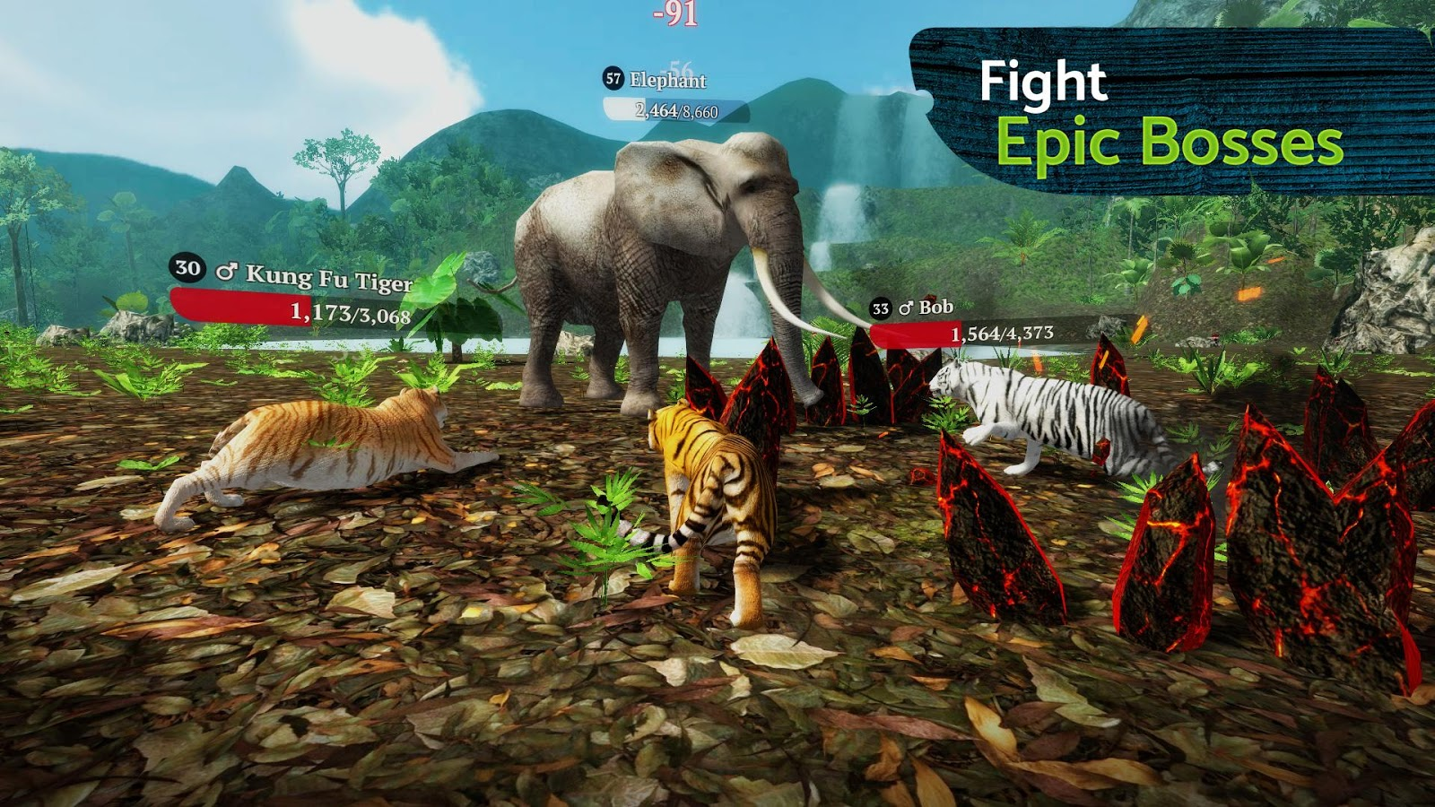 The Tiger is a Role Playing Game for android download last version of The Tiger Apk + mod (Max Health,Defense,Battle,…) for android